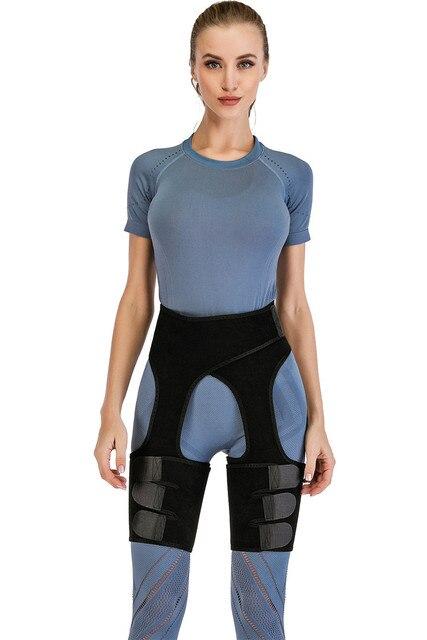 Waist Support Neoprene Slim Thigh Trimmer Leg Shapers Slimming Belt Waist Trainer Sweat Shapewear Fat Burning Compress Belt 4