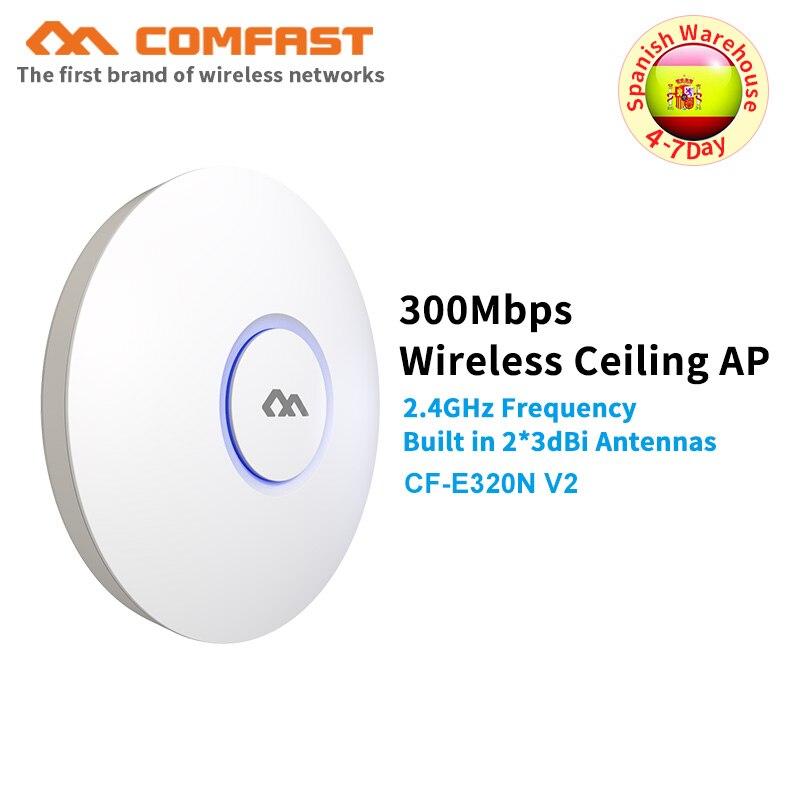 Comfast intérieur sans fil plafond AP 300M wifi routeur Openwrt WiFi Point d'accès AP 6dbi antenne 48V POE Wi fi amplificateur de Signal AP