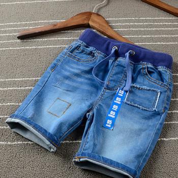 Letnie spodenki chłopięce dziecięce chłopięce miękkie bawełniane spodnie jeansowe krótkie spodnie kowbojskie dziecięce spodnie dżinsowe dziecięce 4-14 lat tanie i dobre opinie NoEnName_Null COTTON Pasuje prawda na wymiar weź swój normalny rozmiar Chłopcy BS42323 Moda Elastyczny pas Patchwork