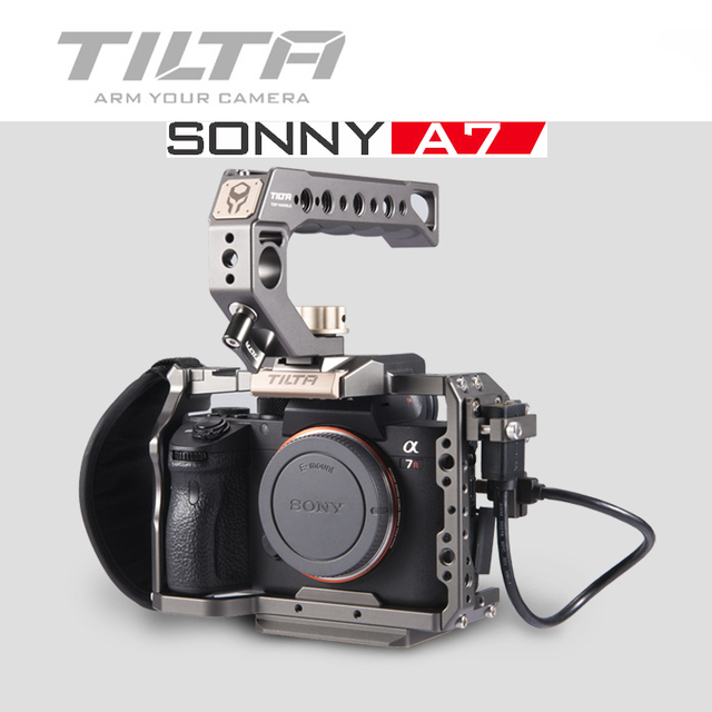 Tilta A7 A9 Rig Kit A7 iii Full Cage TA T17 A G Top Handle baseplate Focus handle For Sony A7 A9 A7III A7R3 A7M3 A7S3