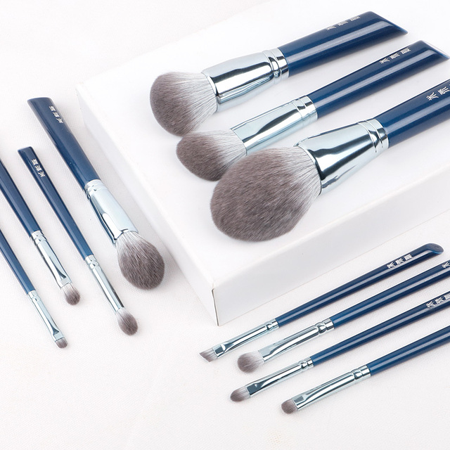 MyDestiny makeup brush-The Sky Blue 11pcs super soft fiber makeup brushes set-high quality face&eye cosmetic pens-synthetic hair 3
