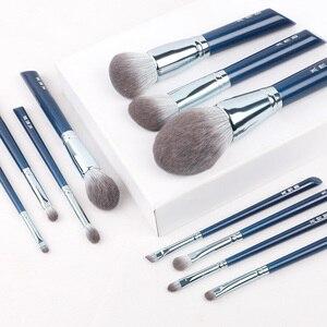 Image 4 - MyDestiny makyaj fırçası Sky Blue 11 adet süper yumuşak fiber makyaj fırçası es seti yüksek kalite yüz ve göz kozmetik kalemler sentetik saç