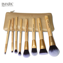IMAGIC Make Up Brushes 8 pcs Brush Set Kit Professional Nature Beauty Essentials Body Paint Makeup Bag