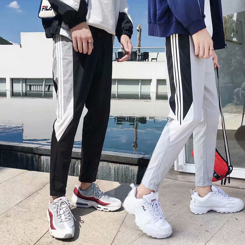 HNMCHIEF Striped Slim Fitted <font><b>Pants</b></font> Brand Gyms Men Joggers Sweatpants Men's Joggers Trousers Sporting Clothing The High Quality image