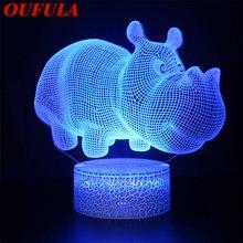 Dlmh Ночные светодиодные лампы новинка 3d лампа милая игрушка