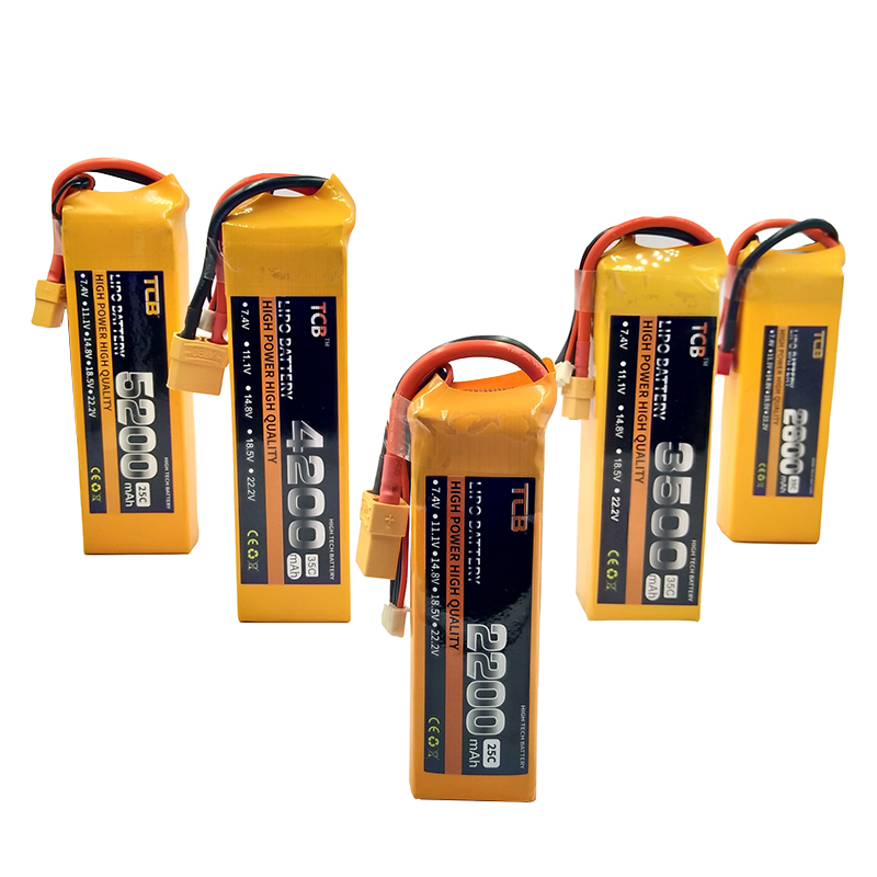 TCB RC LiPo <font><b>Battery</b></font> 2S <font><b>7.4V</b></font> <font><b>2200mAh</b></font> 2600mAh 3500mAh 4200mAh 5200mAh 25C 35C For RC Airplane Drone Car 2S <font><b>7.4V</b></font> Toy <font><b>Batteries</b></font> LiPo image