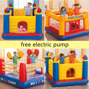 Bounce House Boxing-Rings Inflatable Castle Jumping Children Sport for Playng-Game Wrestling