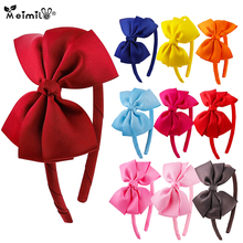 Meimile Hair Bow Headband Kids Girls Children Head Accessories Headband With Grosgrain Ribbon Colorful Cute girls bow decorated headband