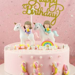 1PC Cake Cupcake Topper Unicorn Horse Home Decoration for Wedding Birthday Party Baking Accessories Decoration Supplies(China)