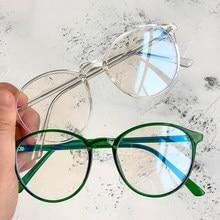 Lunettes transparentes pour ordinateur pour hommes et femmes, monture ronde, bloquant la lumière bleue, lunettes optiques colorées, dernière collection 2021