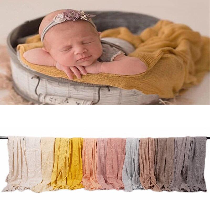 Yeni! 40*180cm bebek fotoğraf battaniye sarar yenidoğan sepet dolgu arka plan yenidoğan fotoğraf sahne Backdrop kumaşlar 18 renk
