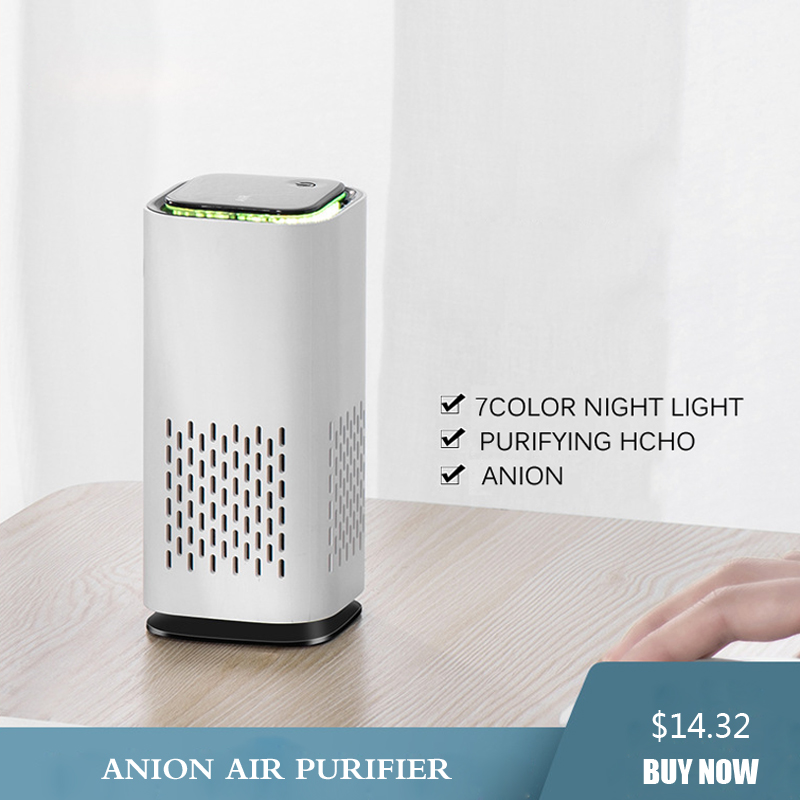 Anion Generator Deodorizer Air Purifier Portable USB  Filter Sterilize Purifier Ionizer Air Small Space Clear Odor Air Freshener