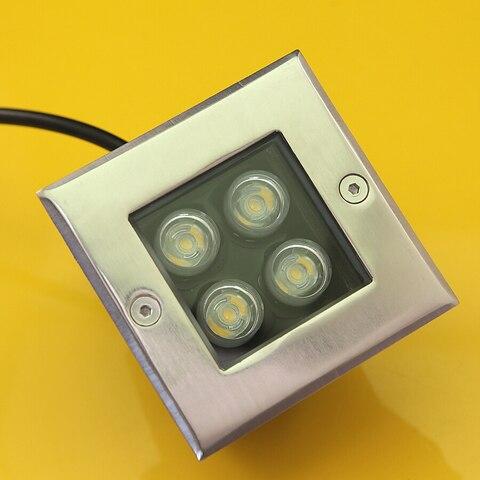 ac85 265v dc12v 4 w led inground luz 4x1 lampada subterranea led chao jardim caminho