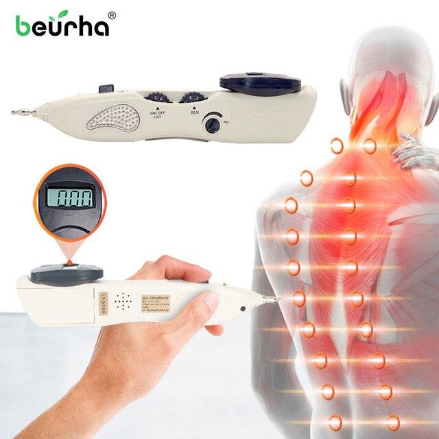 ボディマッサージペン3 1で鍼ペン子午線エネルギーペン疼痛緩和ポイント検出器デバイス健康レーザー治療マッサージ銃
