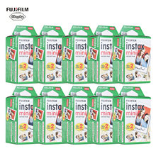 10-200 Fuji Fujifilm Instax Mini 11 9 8 7s 70 90 Photo Paper Films White Edge 3 Inch For Instant Camera with Cleaning Cloth