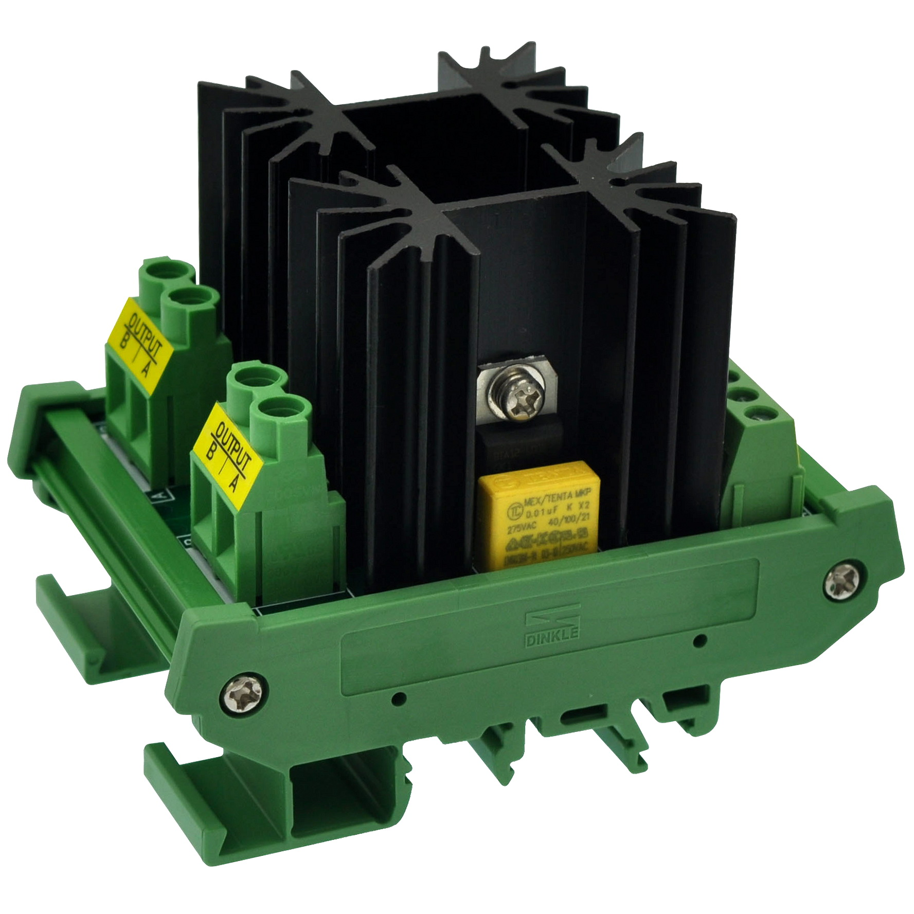 CZH-LABS DIN Rail Mount 12 Amp Solid State Relay SSR Module, In 4~32VDC, Out 100~240VAC. (2 Channels)