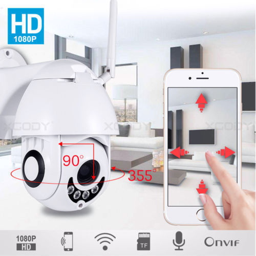 1080P PTZ Wireless WIFI IP Camera Outdoor Waterproof Speed Dome Night Vision 2MP Home Security Surveillance Camera