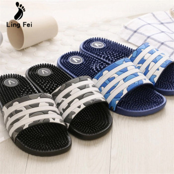 Men Summer Slippers  Unisex Home Bathroom  Cool Water Flip Flops Men  High quality Soft  Massage Beach Sleepers Casual Shoes 2020 summer cool rhinestones slippers for male gold black loafers half slippers anti slip men casual shoes flats slippers wolf