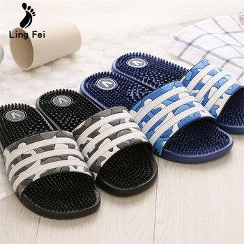 Women Summer Slippers  Couple Home Bathroom Cool Water Flip Flops High quality Soft Massage Beach Casual Shoe