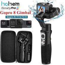 Hohem isteadyプロ 3 3 軸ジン移動プロ 8 アクションカメラ用ハンドヘルド移動プロヒーロー 8,7 、 6,5 、 4,3 、osmoアクション