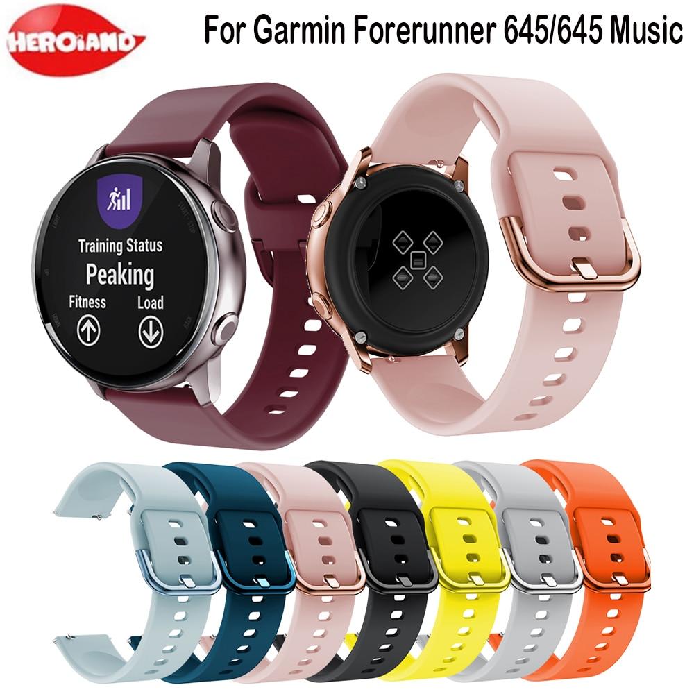 Silicone Smart Watch Band Strap For Garmin Vivoactive 3 Vivoactive HR Bracelet Replacement For Garmin Forerunner 645 Watchband