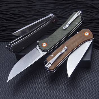 TUNAFIRE Pocket Linen Handle Folding Knives D2 High Hardness Steel Survival Knife Outdoor EDC Tool Ball Bearing Multi Camping Kn 2