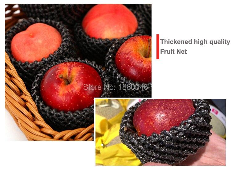 De color negro 1000 Uds 14x7cm grueso EPE malla de espuma para Apple/melocotón manga neto frutas embalaje de espuma material respetuoso del medio ambiente - 5