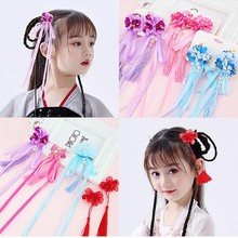 Chinese Style Girls Flower Hairpin Tassel Beautiful Girls Hair Pins Tassel Headband Hair Clip Hairgrips Hair Accessories недорого