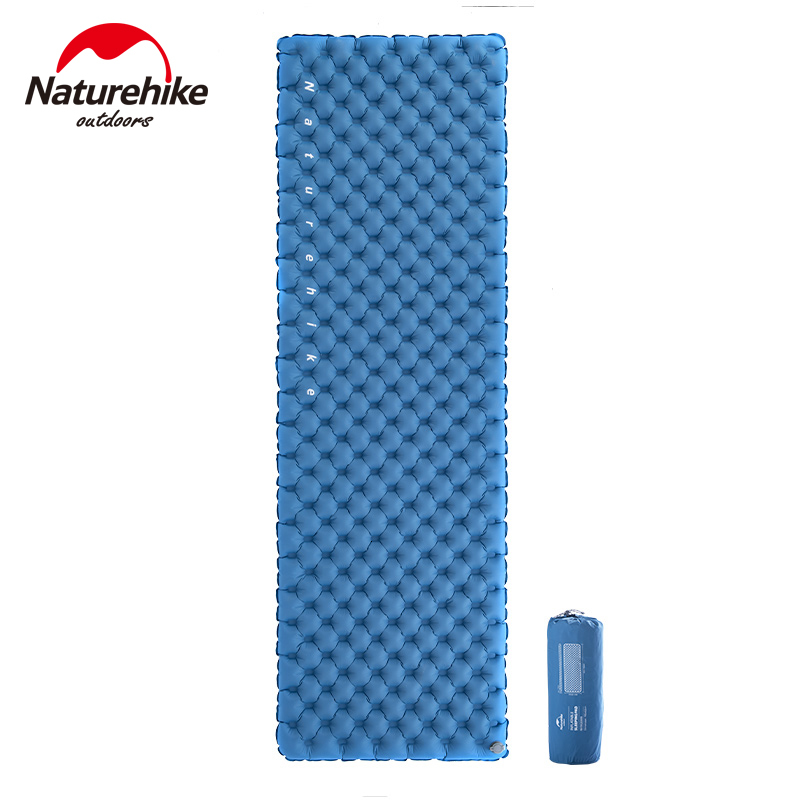 Naturehike 2019 NewThickness 8cm Double-Airbag Camping Air Mattress Nylon TPU Camping Inflatable Mat Tent Picnic Sleeping Mat