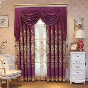 Image 2 - Avrupa tarzı perdeler oturma yemek odası için yatak odası lüks EmbroideryCurtain Tricolor isteğe bağlı bitmiş ürün özelleştirme