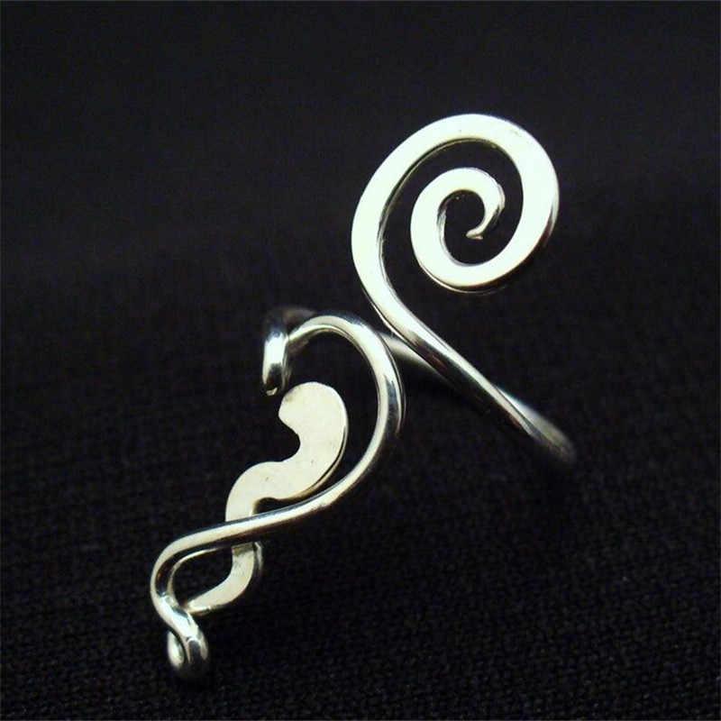 6 Zakken Van Gemengde Zilveren Voet Ringen Overdreven Handgemaakte Vrouwelijke Voeten Sieraden
