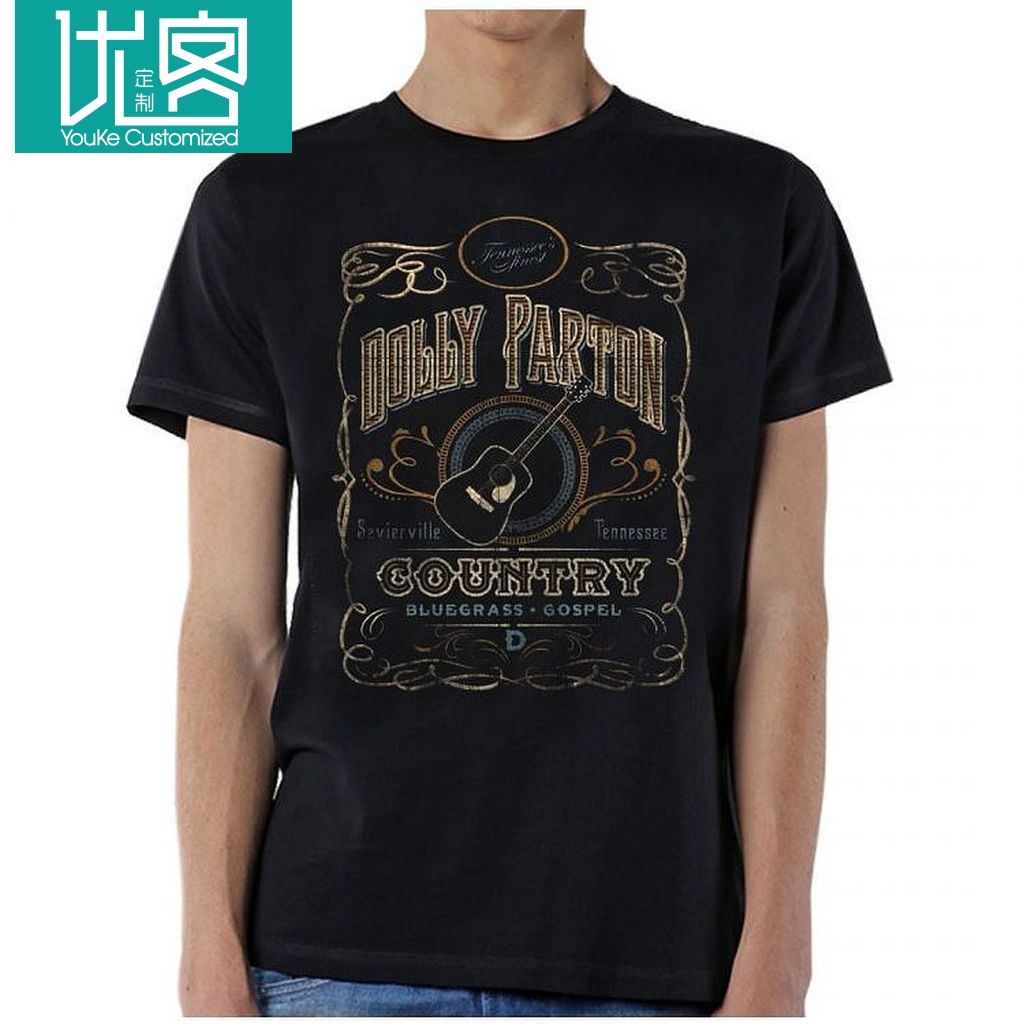 Dolly Parton Whiskey Label Country-Musik Songs Sanger Amerika USA T Shirt S-XL Printed T-Shirt Pure Cotton Men top tee image