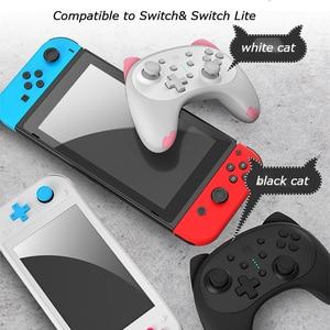 Image 4 - Controle para jogos de nintendo switch pro switch lite, controlador de jogos fofo sem fio com alça