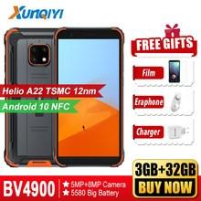 Blackview – Smartphone BV4900, 3 go + 32 go, étanche, IP68, 5.7 pouces, 5580mAh, Android 10.0, NFC, téléphone portable robuste, 4G LTE