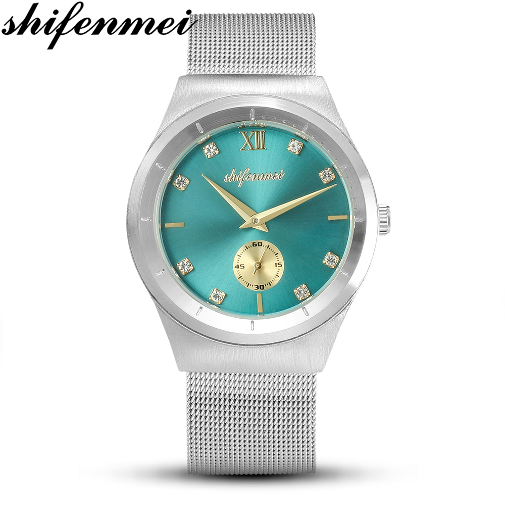 Shifenmei Woman Watch Gold-Clock Quartz Rose Feminino Stainless-Steel Waterproof Fashion