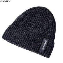 Knitted Wool Beanies Hat For Men Women Warm Velvet Winter Unisex Skullies Cap Hip Hop bonnet 2019 New
