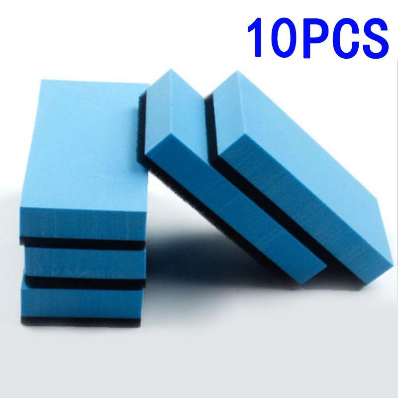 5pcs/10pcs/20pcs Car Ceramic Coating Waxing Polishing Sponge Glass Nano Wax Coat Applicator Polishing Pad EVA Sponge Rectangle