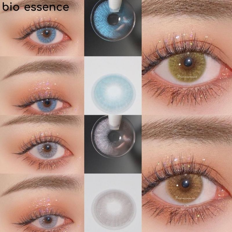 2pcs pair Multicolor Lenses Colored Contact Lenses Colored Natural Cosmetics For Eyes Yearly Twilight Blue Lenses