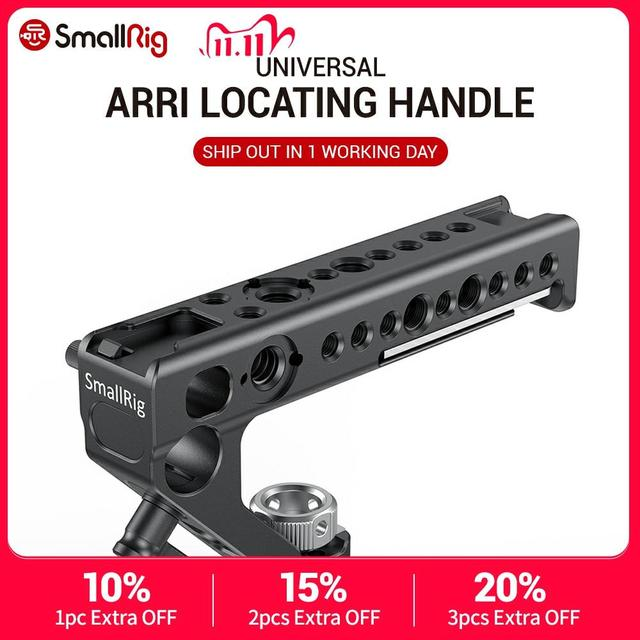 SmallRig DSLR Camera Top Handle Grip Side Arri Locating Handle With 15mm Rod Clamp ARRI Locating Holes Camera Stabilizer 2165