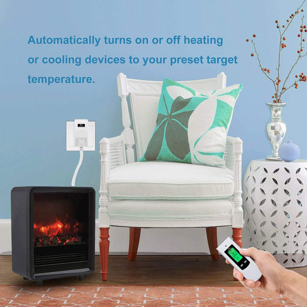 Nashone Thermostat Digital Temperatur Control Wireless Thermostat 220V LCD Display Temperature Controller socket with thermostat 3