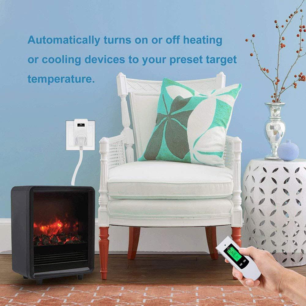 Nashone Thermostat Digital Temperatur Control Wireless Thermostat 220V LCD Display Temperature Controller socket with thermostat 3