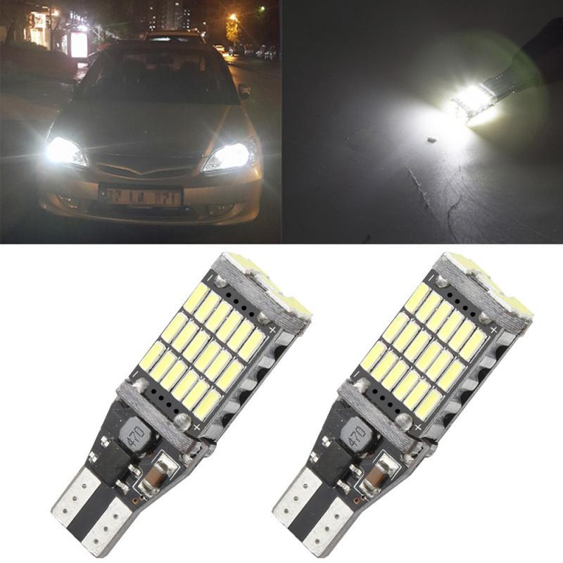 New2021 Canbus T15 4014 45SMD P21W W16W без неисправностей автомобиля задние светодиодные лампы стоп светильник Реверсивный светильник фонарь стоп-сигнала ...