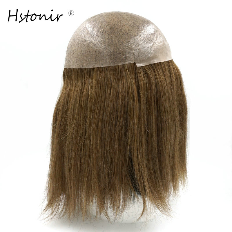Hstonir European Remy Hair Silky Soft Strong Toupee Hair For Women Cuticle Keep All Poly Skin Topper Blond Brown Black Root TP16