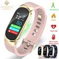 Спортивный Браслет WISHDOIT для женщин  светодиодные водонепроницаемые Смарт-часы  пульсометр  кровяное давление  шагомер  часы для Android iOS
