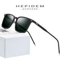 High Density Acetate Polarized Sunglasses Men 2019 New Women Brand Designer Sunglass Korean Square Sun Glasses for Men FONEX