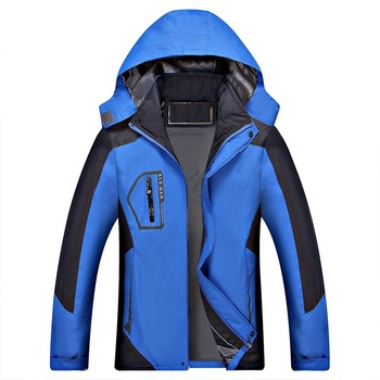 ZOGAA Men's Windbreaker Inner Fleece Waterproof Jackets Outdoor Sport Warm Coat Hiking Camping Trekking Speed Dry Jackets Men