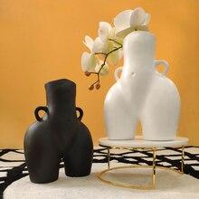 Flower Vases Handicraft Butt Home-Decoration Nude Modern Creativity Resin Furnishings