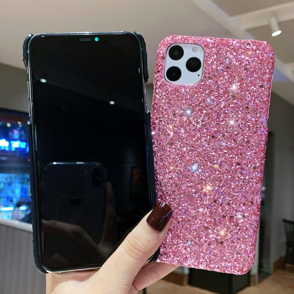 H82d5db8977634d5e91298ca9fe135be9O - LAPOPNUT Luxury Sparkle Glitter Phone Case for IPhone 11 Pro XS X Xr Xs Max 8 7 6 6s Plus SE Christmas Sequins Slim Cover