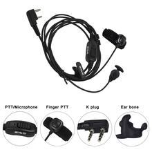 Новый камуфляж цвета Р-161 2 pin уха кость наушник палец РТТ вибрации проводимости ForKenwood ч-777/RT7/RT3/RT8/Баофэн/тут/Puxing