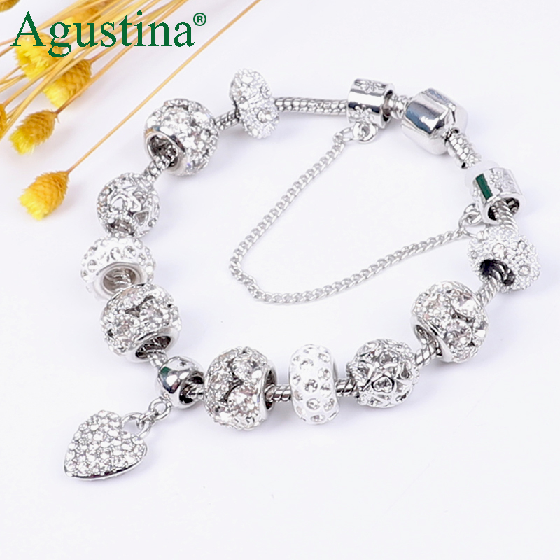 Hot DealsAgustina Beads Bracelet Jewelry Charm Snap-Button Rhinestone Gold Women Fashion Luxury